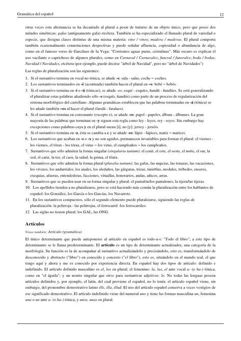 Gramática del español