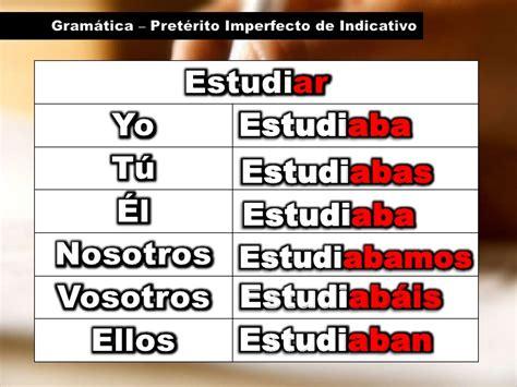 Gramática   Pretérito Imperfecto de Indicativo
