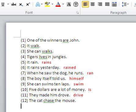 Grammar Thoughts: Microsoft grammar checker