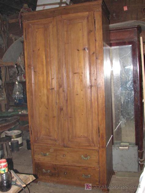gran armario rustico de madera de pino maciza r - Comprar ...