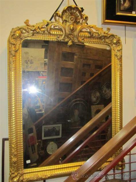 gran espejo, estilo isabelino, con marco de mad   Comprar ...