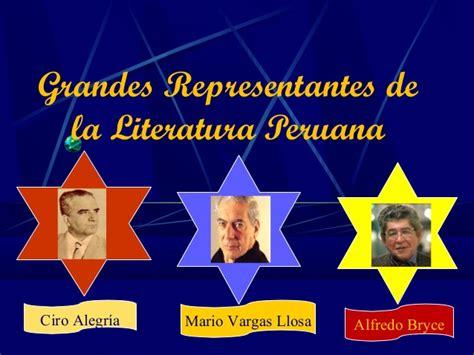 Grandes escritores de la literatura peruana