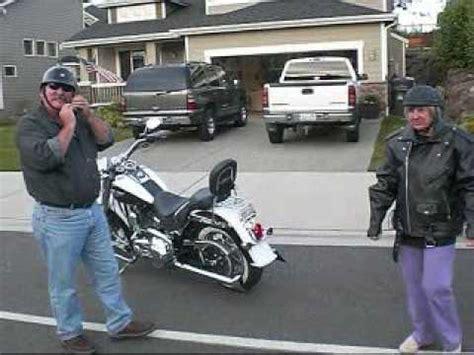 Grandma's Harley Ride!! - YouTube