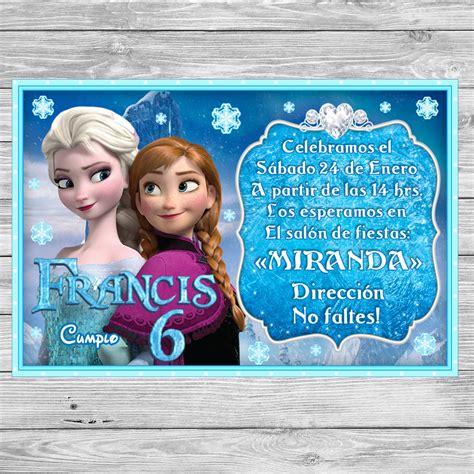 Gratis! Frozen Invitación de cumpleaños para imprimir ...
