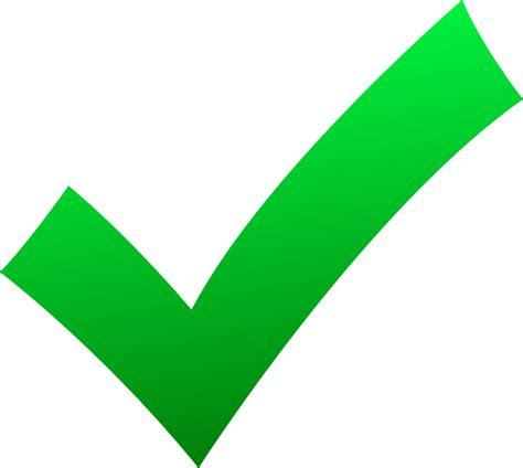 Green Check Mark - ClipArt Best