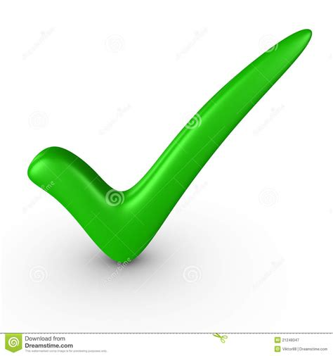 Green check-mark stock illustration. Illustration of ...