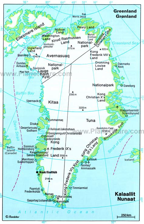 Greenland administrative detailed map. Administrative ...