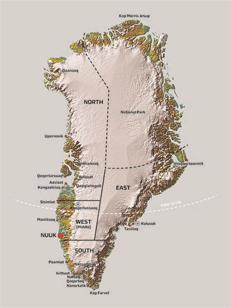 Greenland map | Find Greenland map here