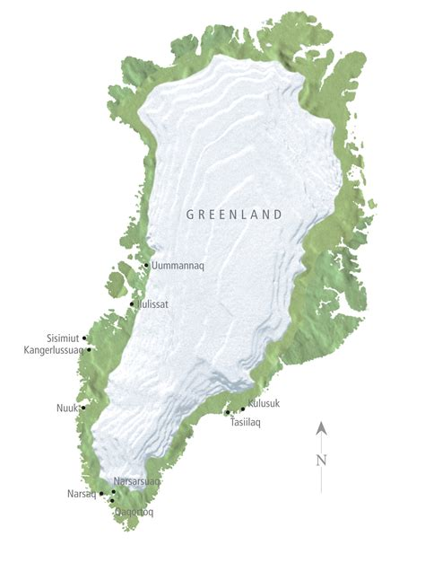 Greenland Map - Greenland • mappery