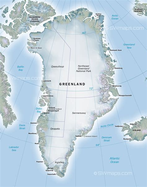 Greenland Map ~ World Of Map