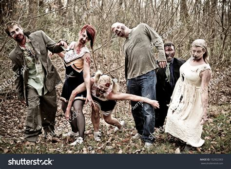Group Zombies Stock Photo 152922383   Shutterstock