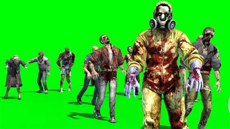 Group Zombies Walks   3D Model Animated   PixelBoom