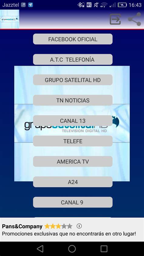 Grupo Satelital: Canales de television gratis desde android