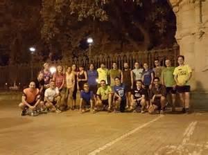 Grupos de runners en Barcelona