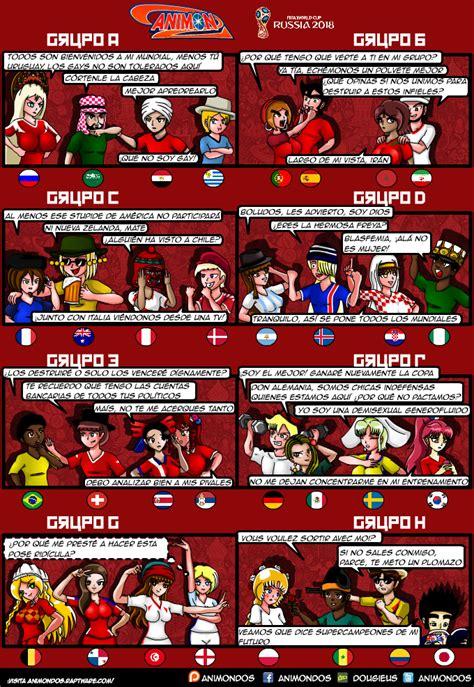 Grupos del Mundial de Rusia 2018 - Animondos Webcomic ...