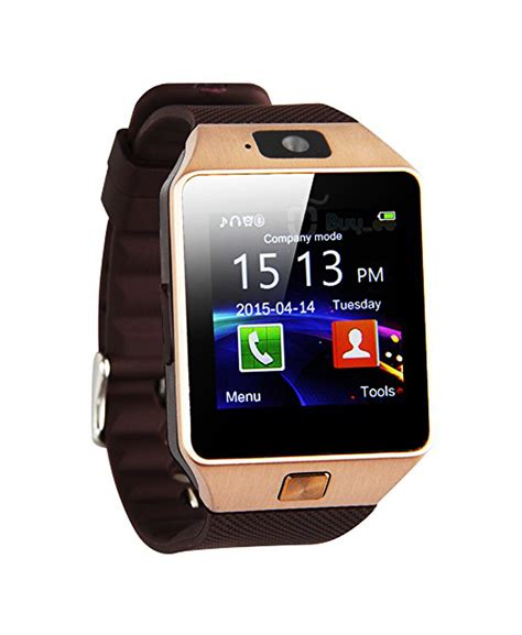 GSM Smart Watch MI 4 Golden | Sim & SD Card Supported ...