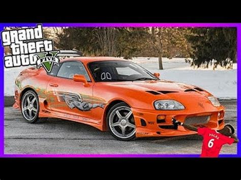GTA 5 ONLINE- 'Brian O'Connor's SUPRA'' Fast and Furious 1 ...