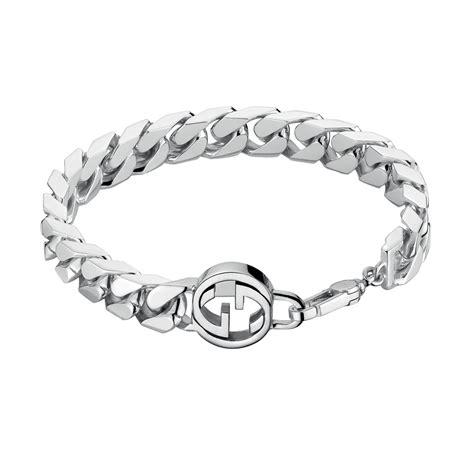 Gucci Interlocking G Men's Silver Bracelet From Berry's ...