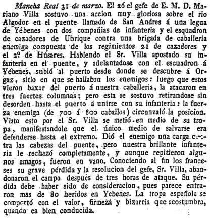 Guerra de la Independencia en Orgaz (Toledo)