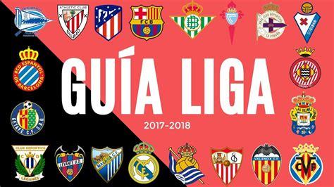 Guía de La Liga española 2017 2018 | LIGA SANTANDER ...