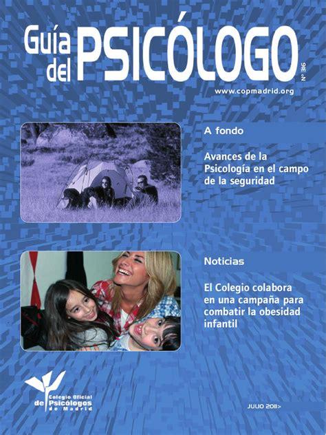Guía del Psicólogo by Colegio Oficial de Psicólogos de ...