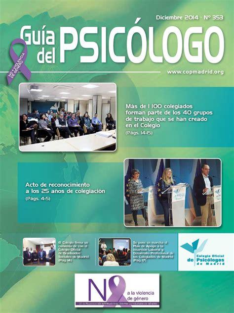 Guía del Psicólogo del mes de Diciembre de 2014 by Colegio ...