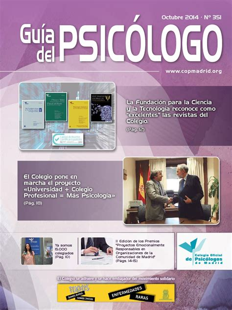 Guía del Psicólogo del mes de Octubre 2014 by Colegio ...