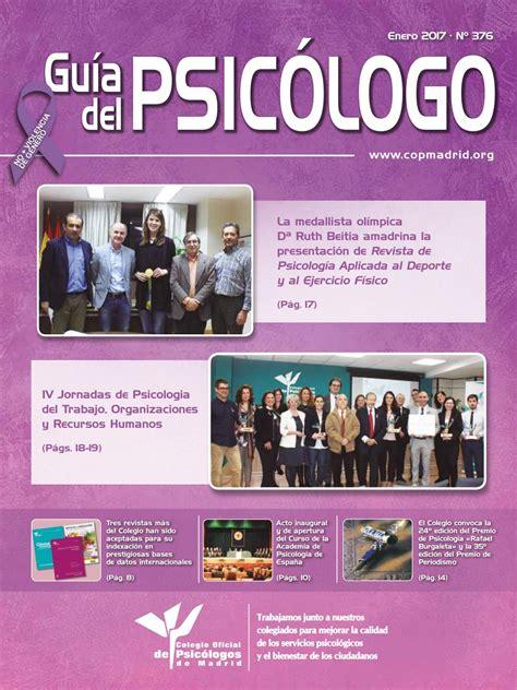 Guía del Psicólogo mes de Enero 2017 by Colegio Oficial de ...