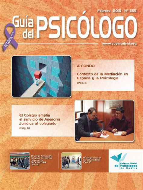 Guía del Psicólogo mes de Febrero 2015 by Colegio Oficial ...