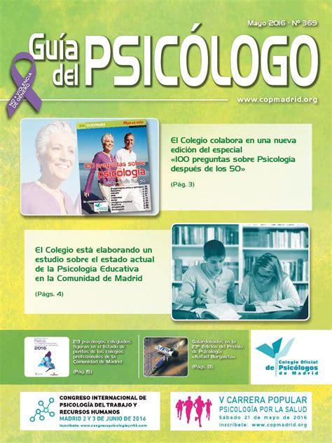 Guía del Psicólogo mes de Mayo 2016 by Colegio Oficial de ...