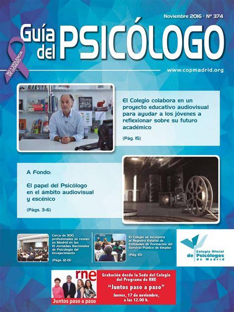 Guía del Psicólogo mes de Noviembre 2016 by Colegio ...