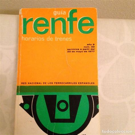 guia renfe horarios de trenes 1977 - Comprar en ...