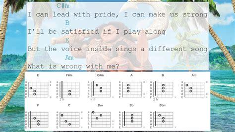 Guitar Chords - How Far I'll Go From Moana - YouTube