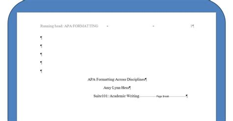 Gypsy Daughter Essays: How to Create an APA Title Page ...