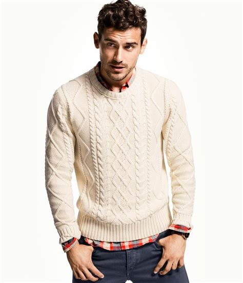 H Men's Winter 2012-2013 Lookbook : Cable knit white ...