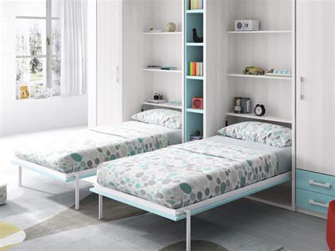 habitación juvenil camas abatibles fresno y lago con ...