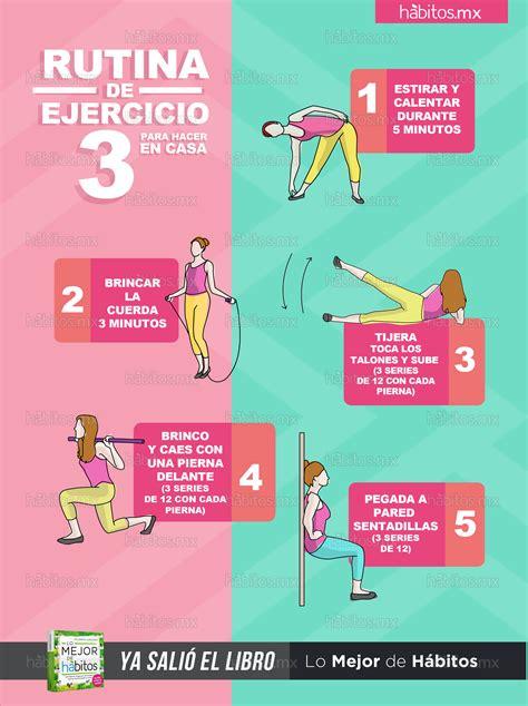 Hábitos Health Coaching | Rutina de ejercicio 3  para ...