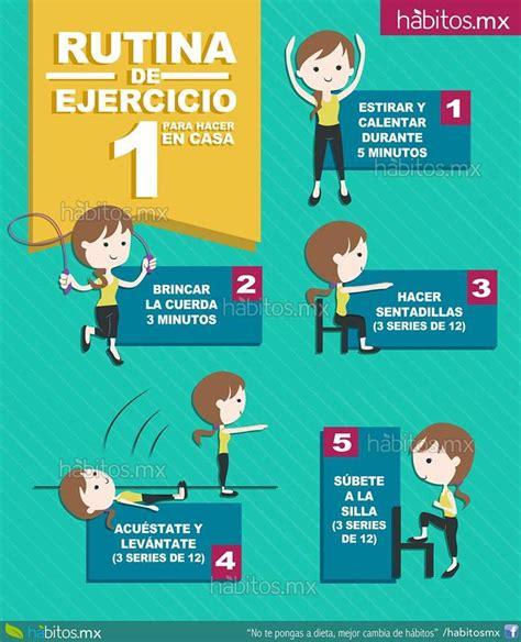 Hábitos Health Coaching | Rutina de ejercicio para hacer ...