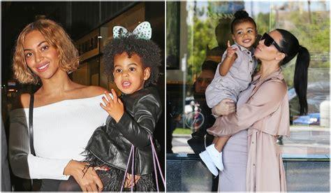 Hacen comparaciones odiosas entre la hija de Beyoncé y Kim ...