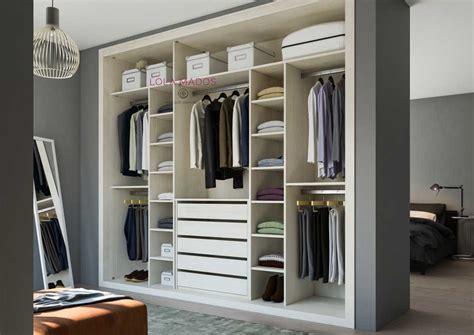 Hacer interior de armarios empotrados a medida blancos ...
