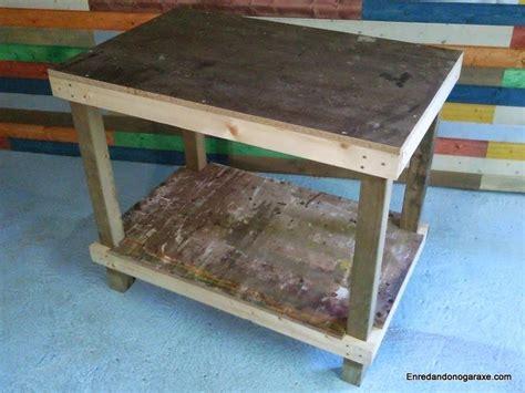 Hacer una mesa de trabajo casera - Enredando No Garaxe