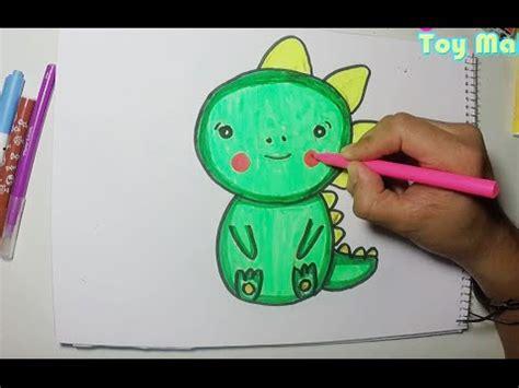 Haciendo dibujo de dinosaurio bebé - YouTube
