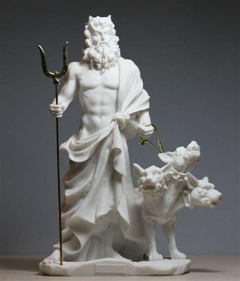 Hades Pluto God of Underworld & Cerberus Handmade Statue ...