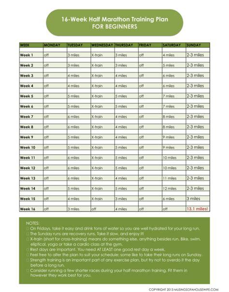 Half Marathon Training Plan *with Printable*