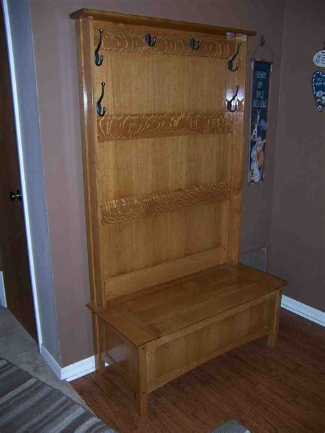 Hall Tree with Storage Bench - Home Furniture Design
