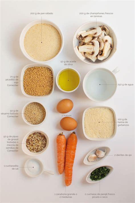 Hamburguesas de soja texturizada con zanahoria y semillas ...