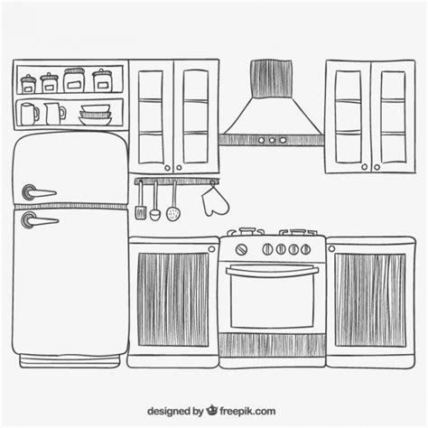 Hand drawn kitchen Vector | Free Download