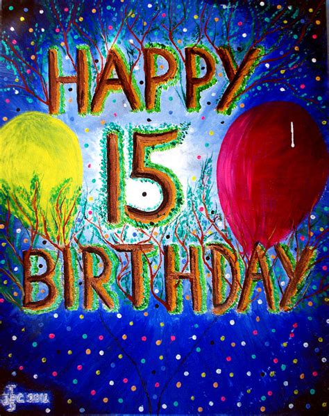 Happy 15th Birthday Painting by Ted Jec