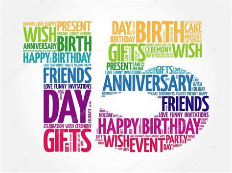 Happy 15th birthday word cloud — Stock Vector © dizanna ...