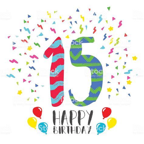 Happy Birthday For 15 Year Party Invitation Card   Arte ...